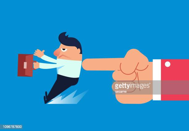 the businessman was forced to push forward by the giant - office politics stock illustrations, clip art, cartoons, & icons