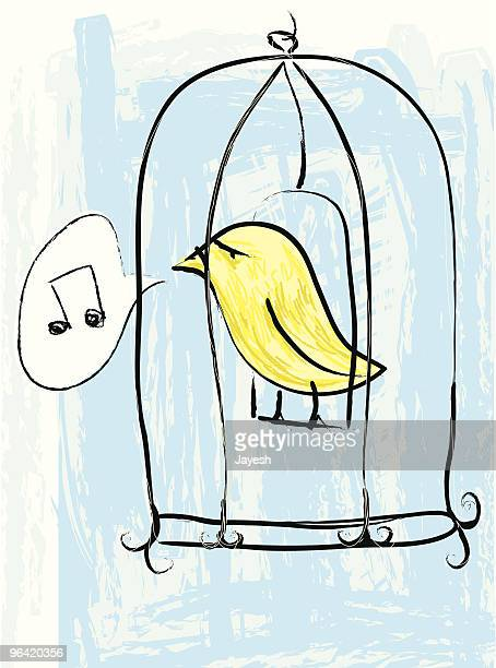The caged bird sings...