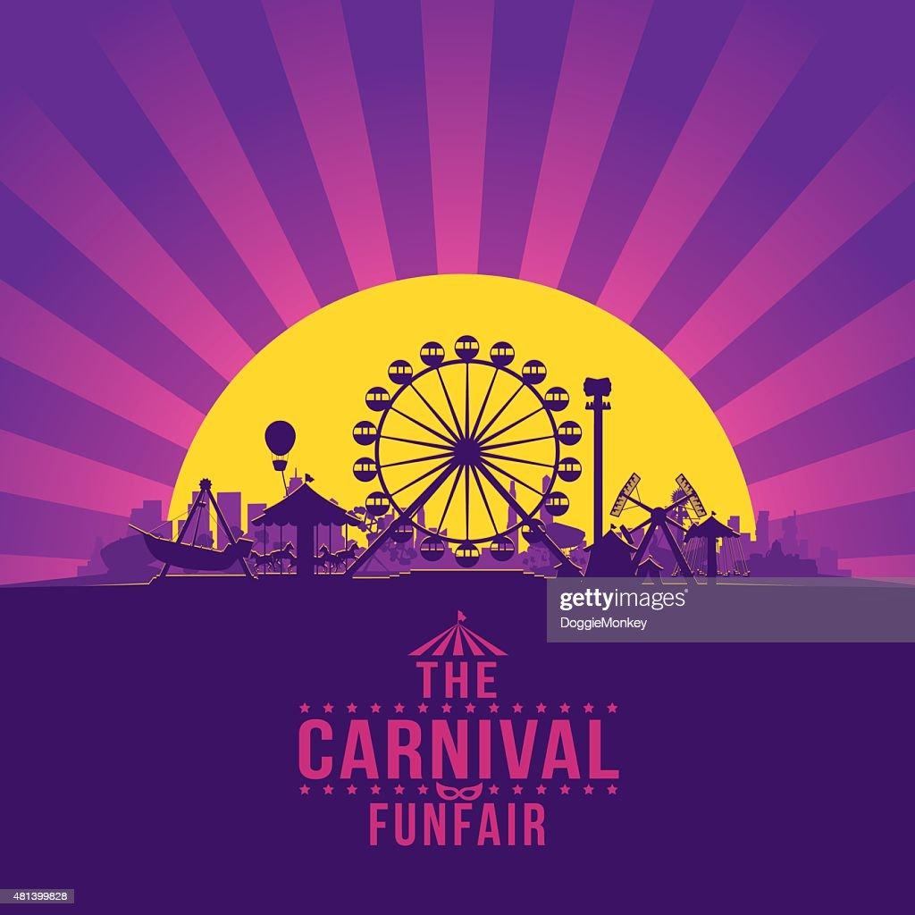The carnival funfair and amusement