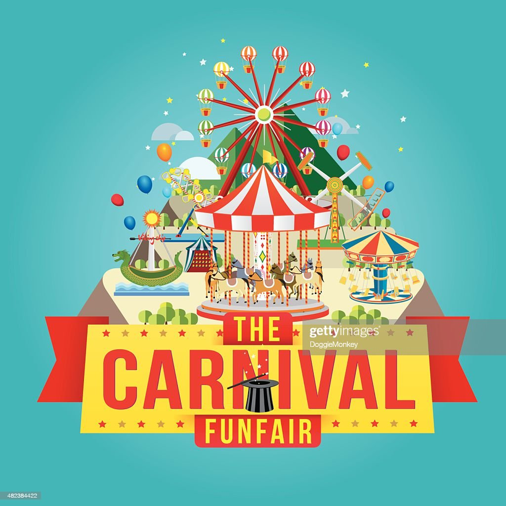 The carnival funfair