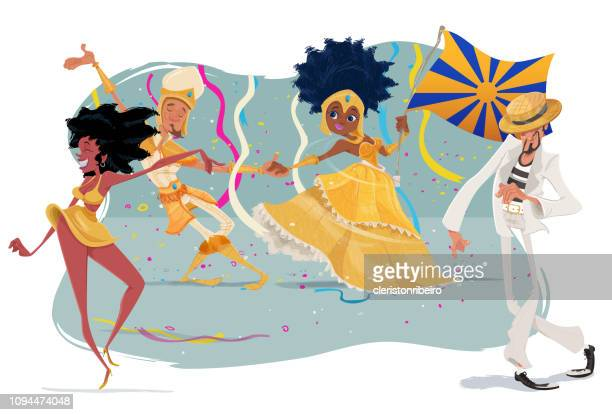 the carnival - samba stock illustrations