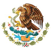 The center of the Mexico flag