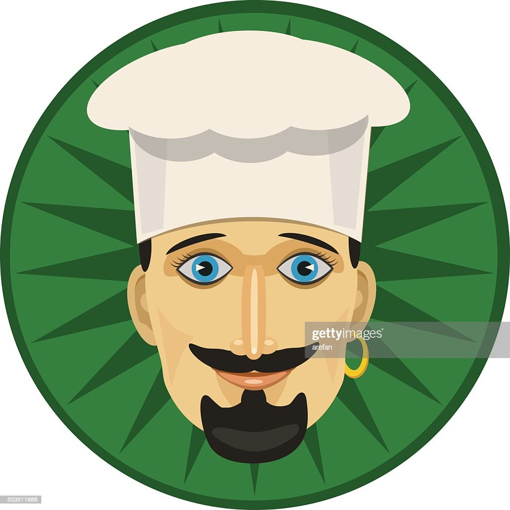 The chef is a man with a beard in the hood