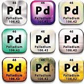 The chemical element Palladium