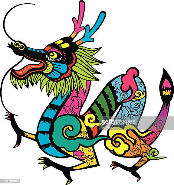 The Chinese Zodiac Dragon stock illustration - Getty Images