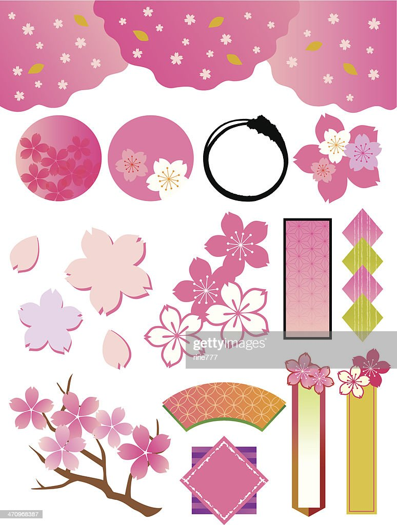The collection of cherry tree_materials