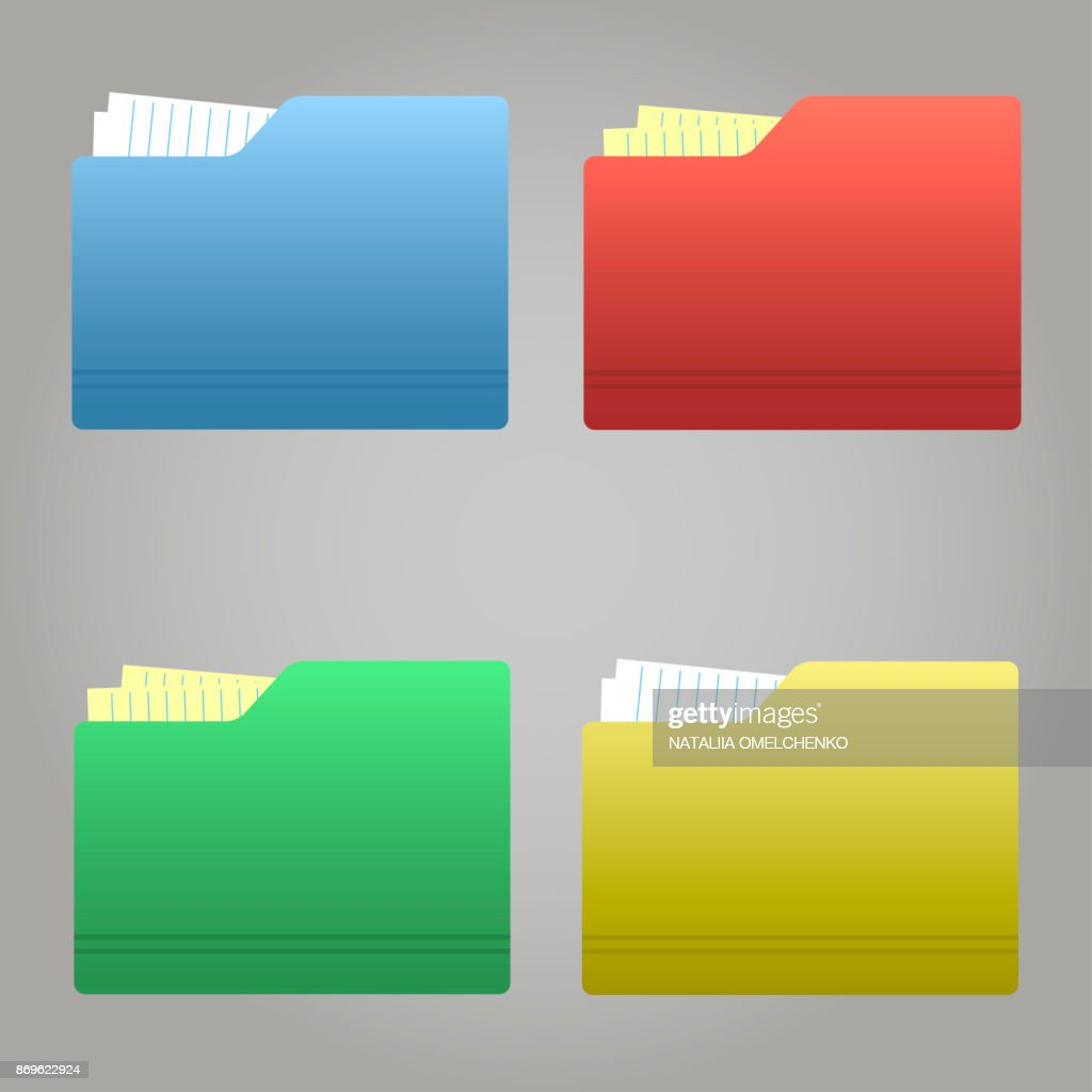 The color folder tabs collection