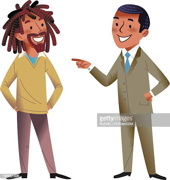 the conversation - rastafarian stock illustrations, clip art, cartoons, & icons