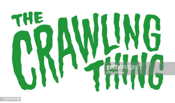 the crawling thing - horror stock illustrations
