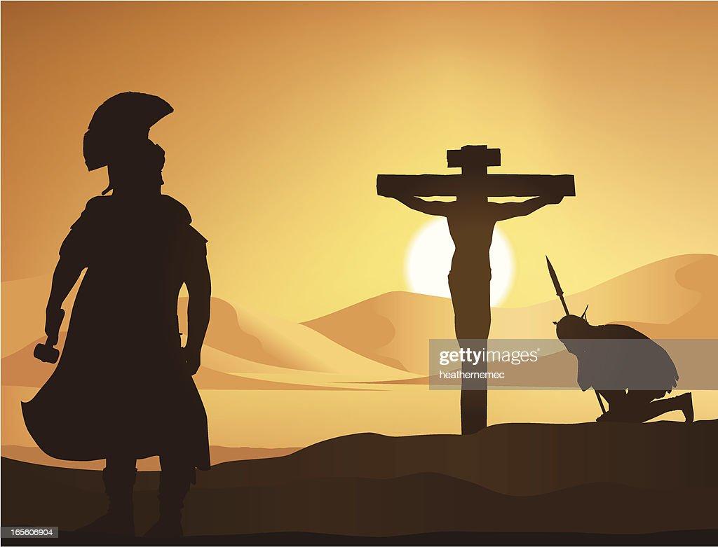 The Crucifixion : stock illustration