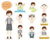 The Daily Routines Of Boy