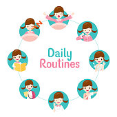 The Daily Routines Of Girl On Circle Chart