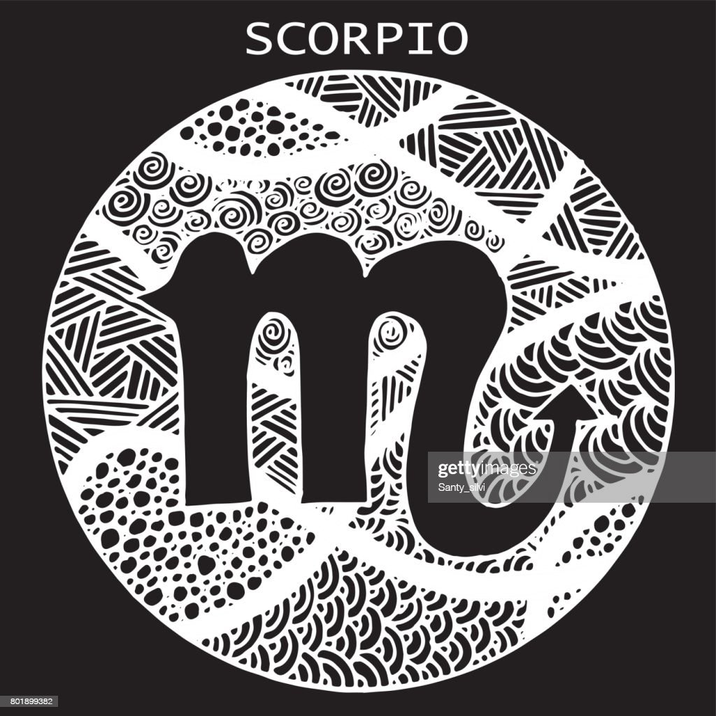 The decorative icon for the zodiac sign scorpio illustration sign the decorative icon for the zodiac sign scorpio illustration sign symbol textile buycottarizona Image collections