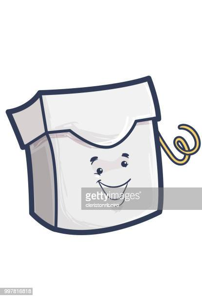 the dental floss - dental floss stock illustrations