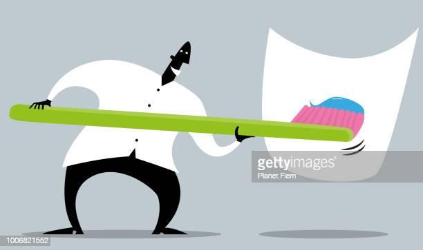 illustrations, cliparts, dessins animés et icônes de recommandation du dentiste - se brosser les dents