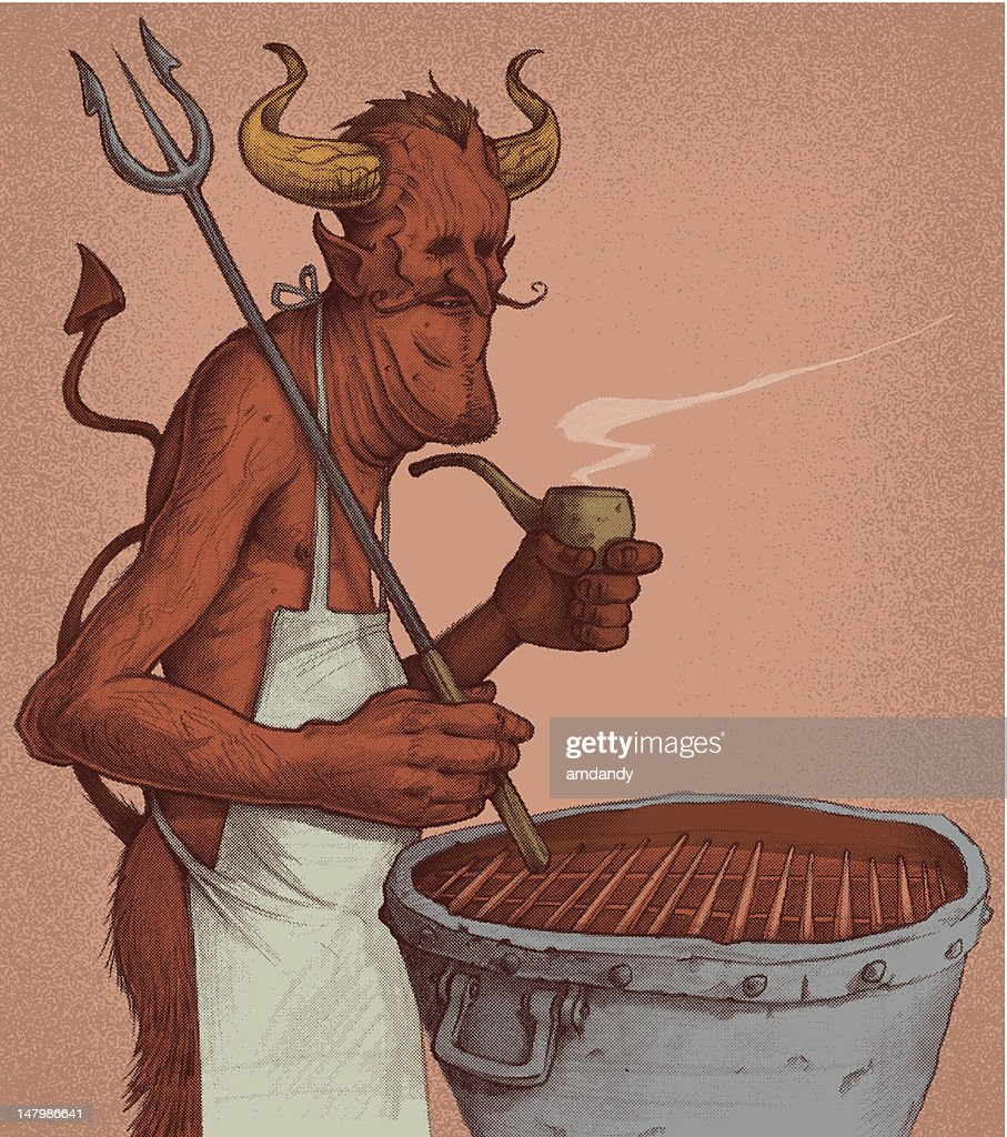 The Devils Cookout : stock illustration