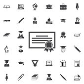 The diploma icon.