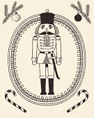 The doodles-style Nutcracker