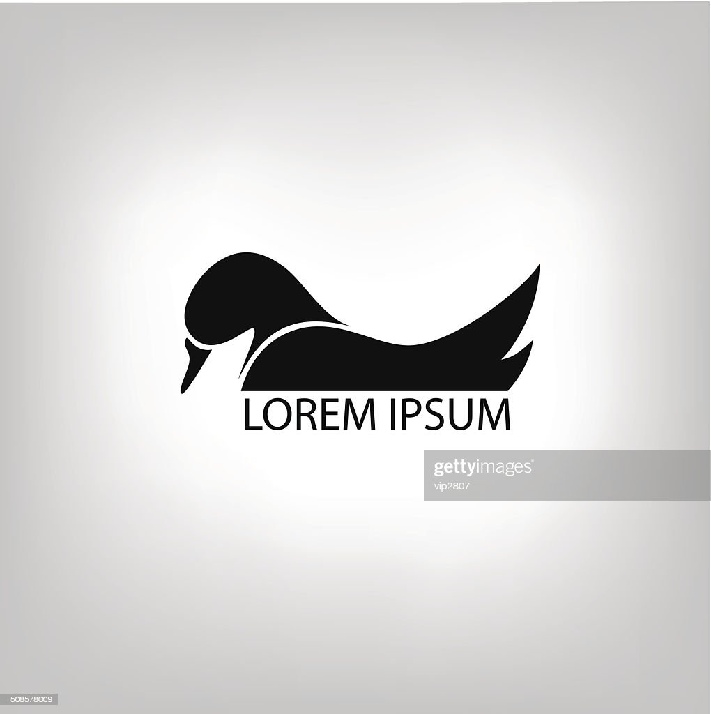 the duck icon : Vector Art