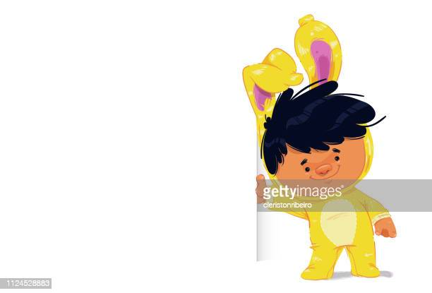 the easter bunny - easter bunny costume stock illustrations, clip art, cartoons, & icons
