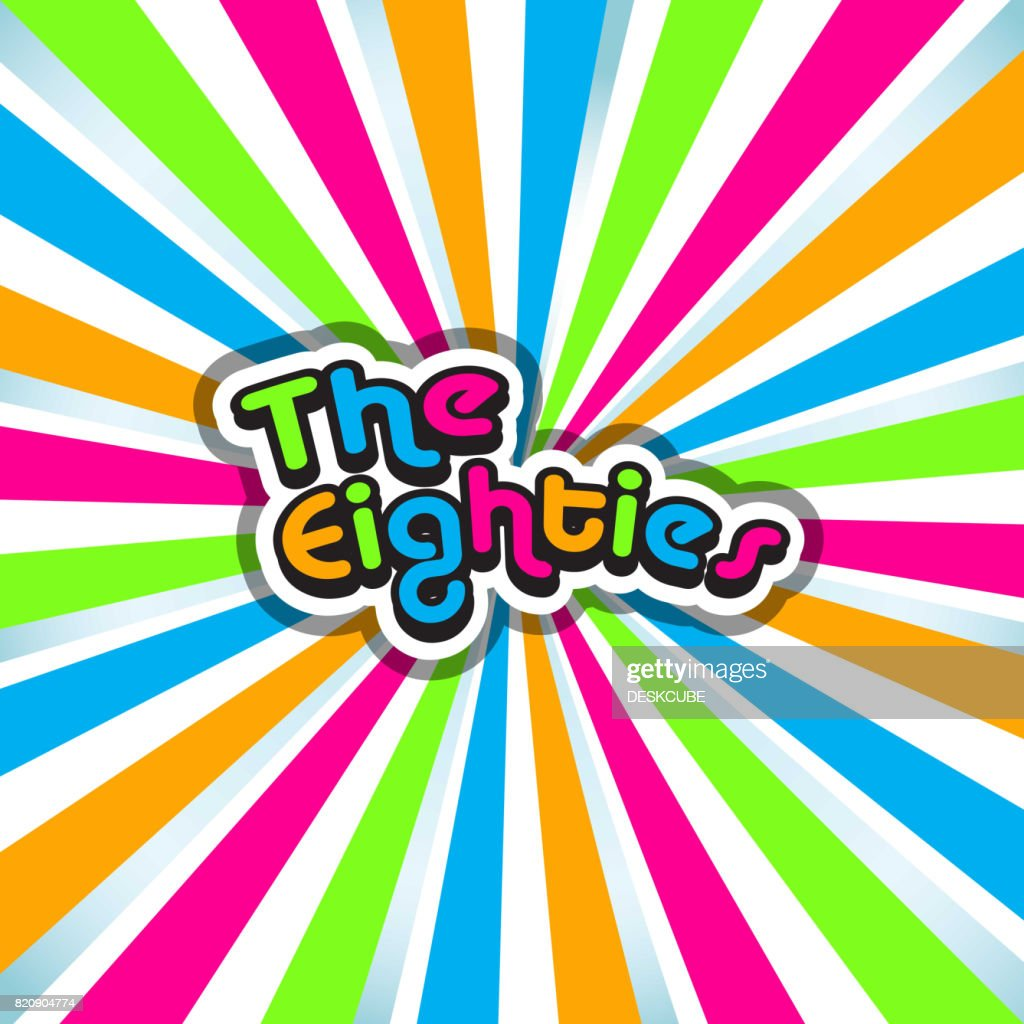 The Eighties Poster Background. Vector illustration