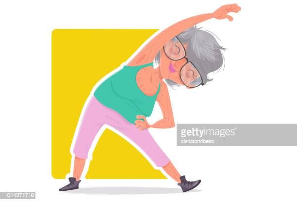 De ouderen en de oefeningen