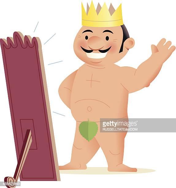 bildbanksillustrationer, clip art samt tecknat material och ikoner med the emperor's new clothes - naket