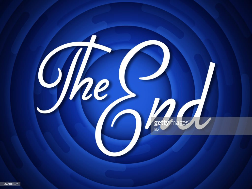The End Credits : stock illustration