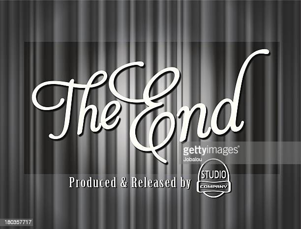 The End Curtains Frame Old Movie