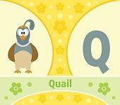 The English alphabet Q