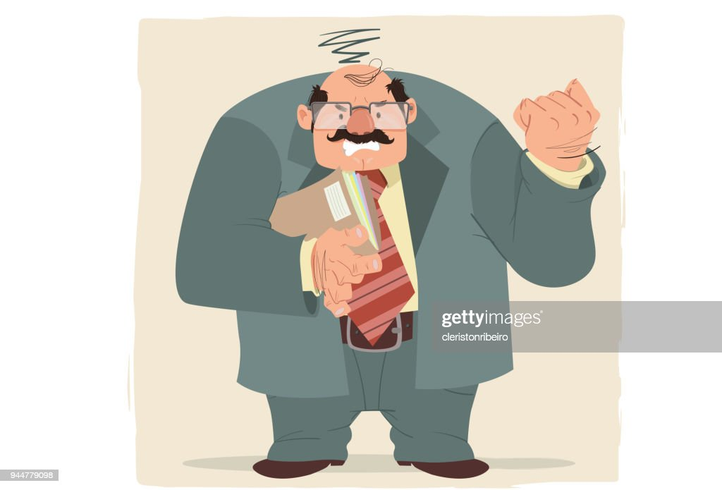 O executivo (estresse) : Stock Illustration