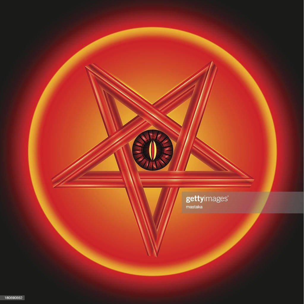 The Eye of Satan in Metal Pentagram.