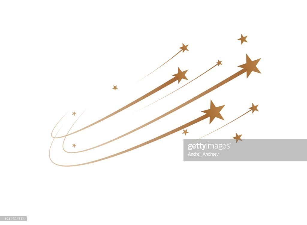 The falling stars are a simple drawing. Vector
