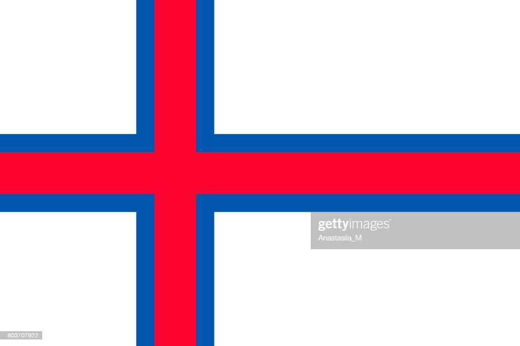 The Faroe Islands national flag