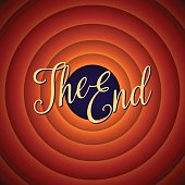 The final screen of the movie. The end