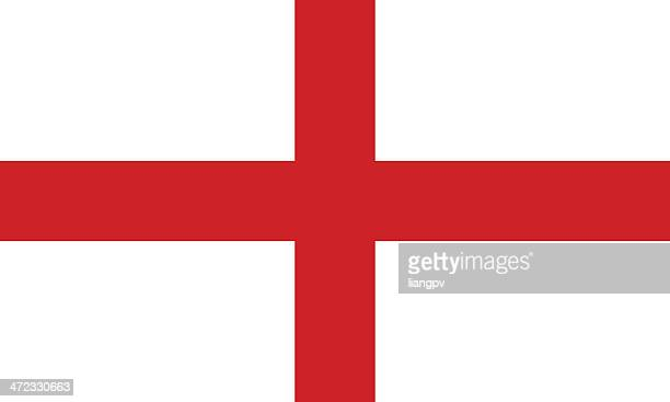 the flag of england with a white background and red cross - england stock illustrations