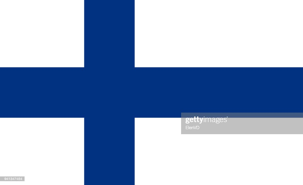 The Flag of Finland. National symbol of the state. Vector illustration.