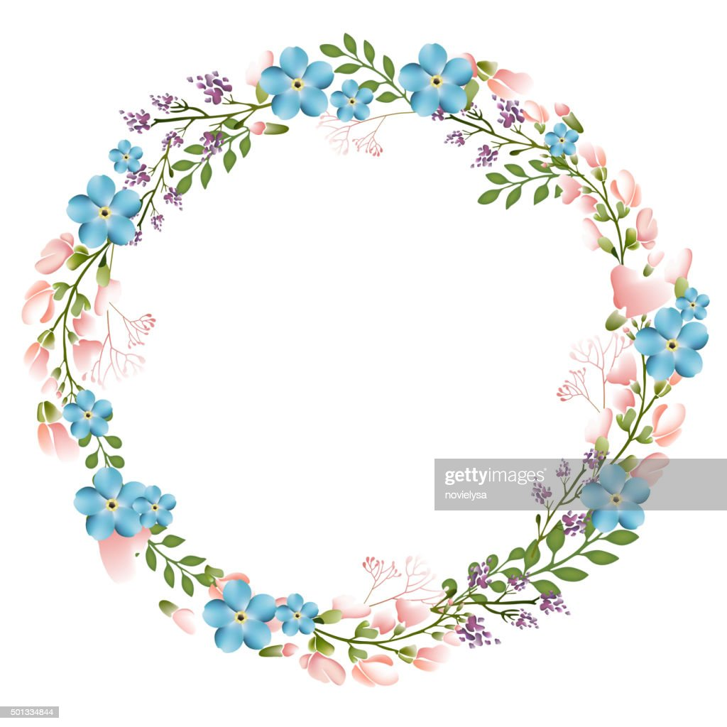 The floral concept of circle frame