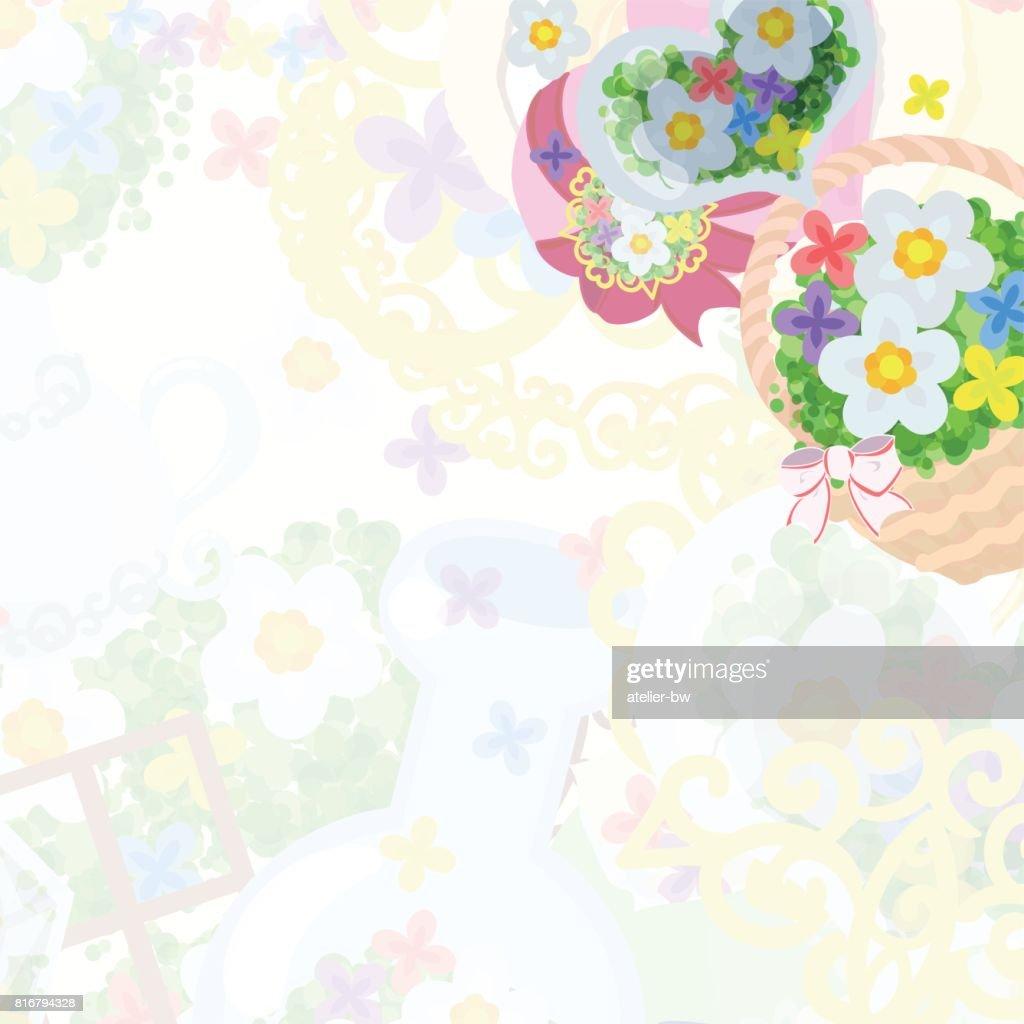 Rahmen Der Blume Objekte Vektorgrafik   Getty Images