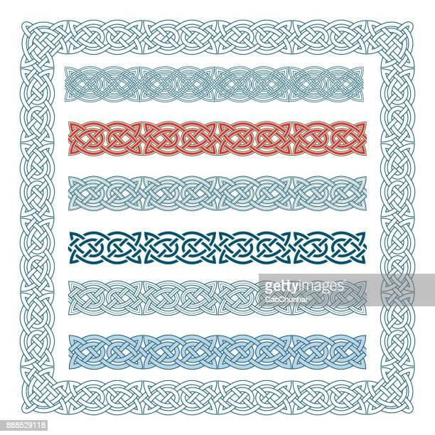 中世のスタイル (ケルト族の結び目) のフレーム - ケルト風点のイラスト素材/クリップアート素材/マンガ素材/アイコン素材