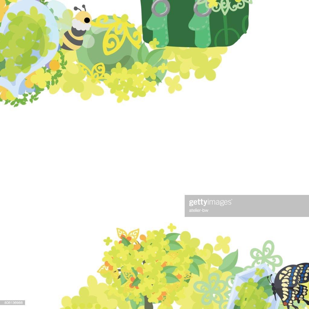 Rahmen Der Gelben Blume Objekte Vektorgrafik   Getty Images