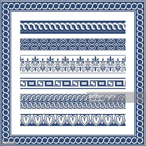 the frames of ancient greek style - greece stock illustrations