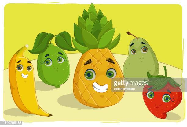 the fruits - morango stock illustrations
