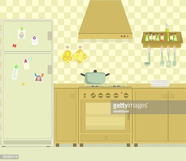 the gas hob kitchen - exhaust fan stock illustrations, clip art, cartoons, & icons