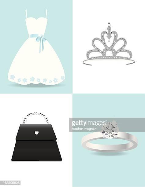 the girly set - tiara stock illustrations, clip art, cartoons, & icons