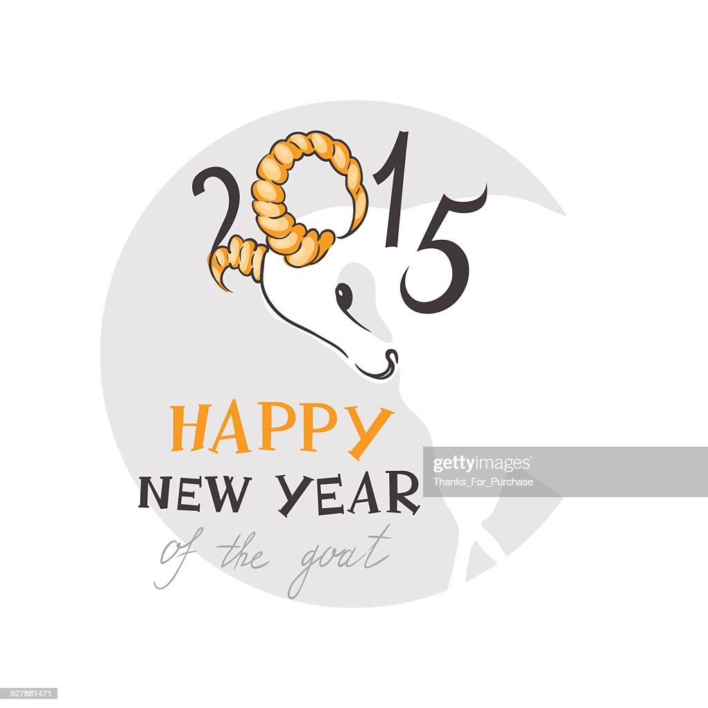 The Goat A New Year Symbol Of 2015 Vector Art Getty Images