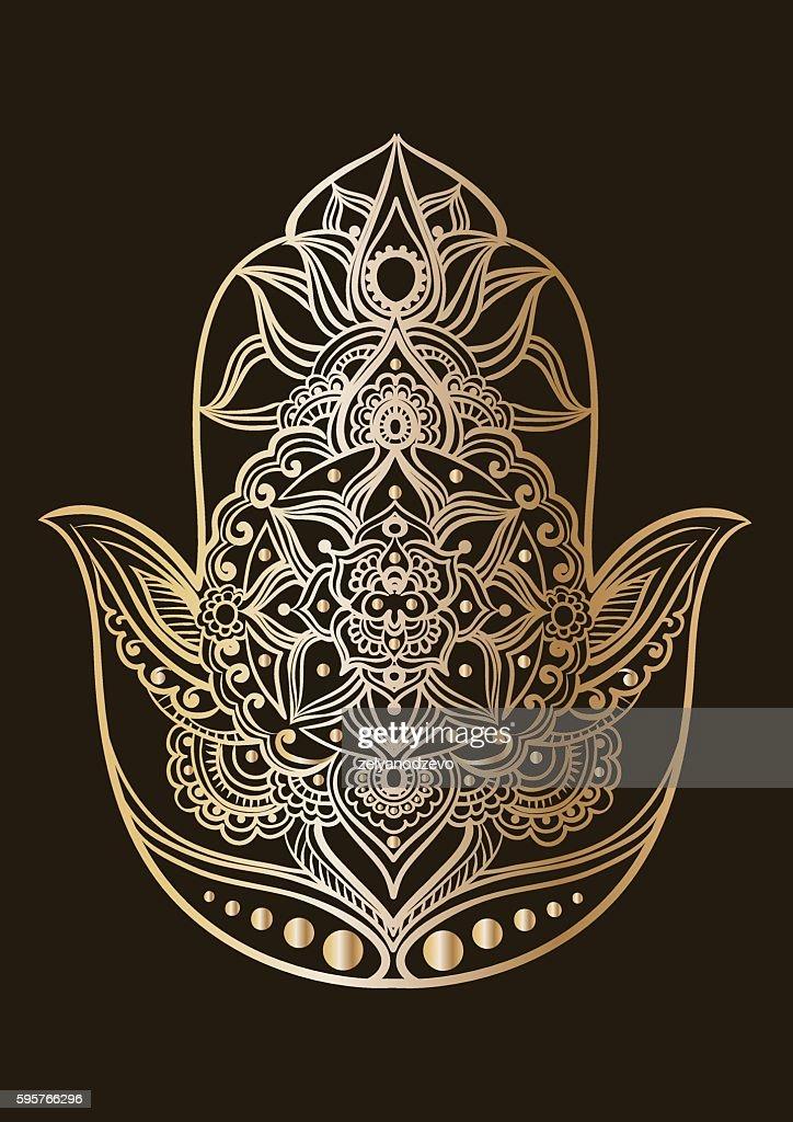 the golden hamsa