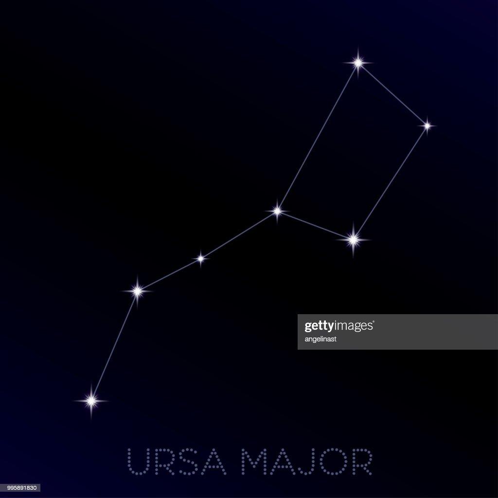 The Great Bear. Vector Illustration of Ursa Major