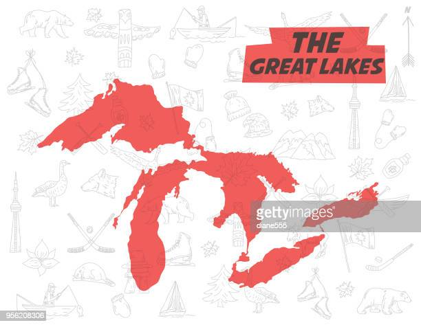 great lakes vector art and graphics getty images