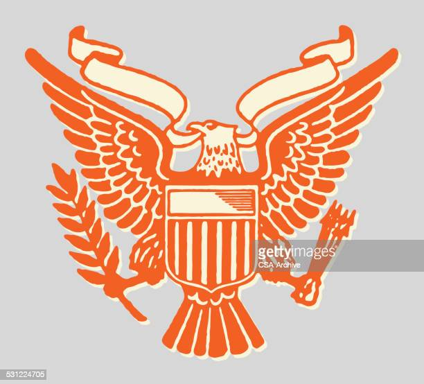 the great seal - bald eagle stock illustrations